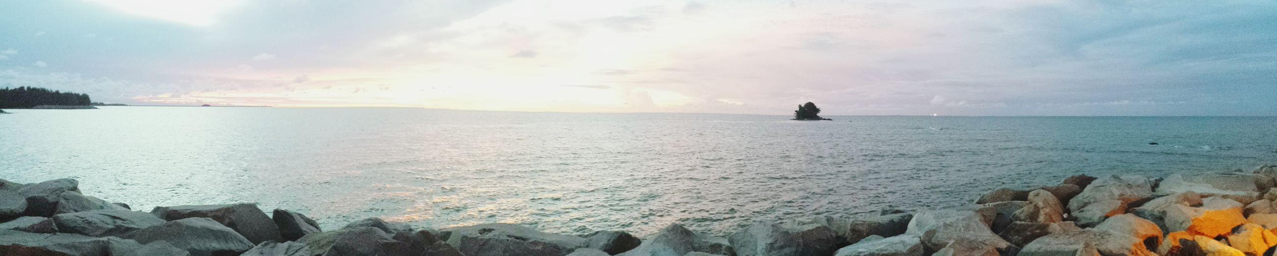 Sea Sunset Reflection Sunlight Beach Sky Outdoors Nature Travel Destinations Sunbeam Water Beauty In Nature Cloud - Sky Brunei Darussalam