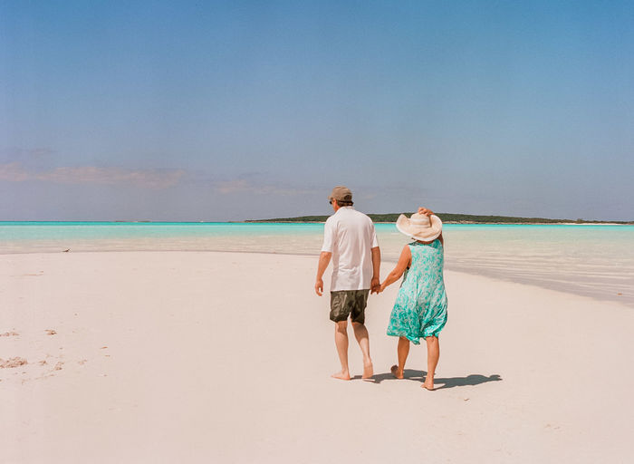 Exuma, Bahamas; film photography; Caribbean; Caribbean sea; ocean; relax; getaway Bahamas Carribean Clear Water Clouds Couple Film Film Photography Island Island Life Married Nature Nautical Ocean Ocean View Peace Quiet Romantic Romantic Landscape Senior Senior Adult Serenity Sky Sunset Waves