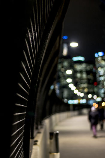 Architecture Built Structure City Fence Illuminated Leading Lines Lines Melbourne Night Outdoors The Way Forward