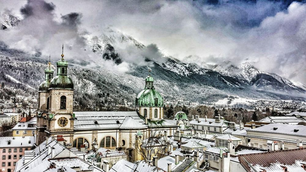 Innsbruck Innsbruck Von Oben Roofs Of Innsbruck Alps Austria Mountains Historical Building Cityscape Travelphotography Stadtansichten Urbanphotography Architecture Scenics Urban Skyline Roofs Mountain Mountainscape Austria Österreich Valley Tal