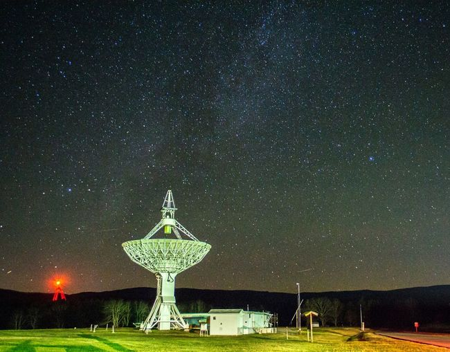 Satellite And Milky Way At Green Bank