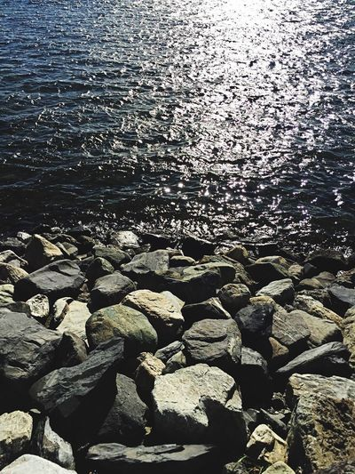 Water Nature Beauty In Nature Outdoors Pebble Day Tranquil Scene Nature Sunlight Puerto Natales,Chile