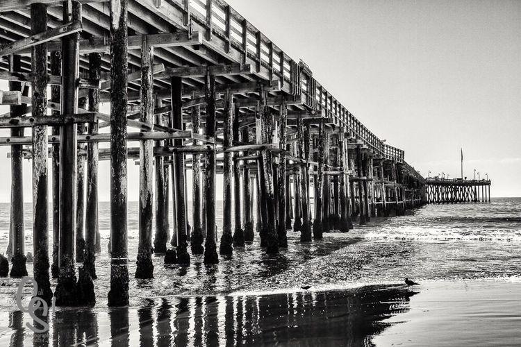 Ventura#venturapier#california Blackandwhite Nikon Nikon1V3 #Beach