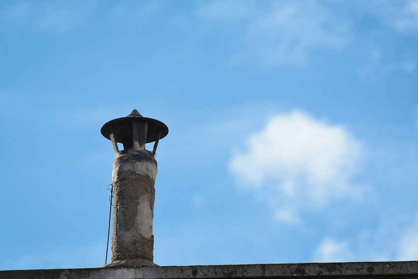 Spring Has Arrived Architecture Art And Craft Blue Built Structure Chimney Cloud - Sky Day History Low Angle View Nature No People Old Outdoors Perching Post Sky Springtime The Past