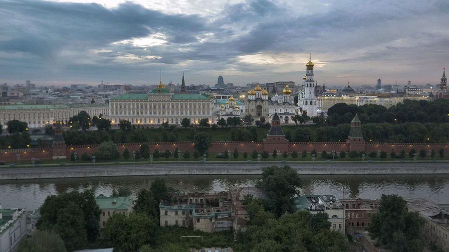 Moscow, Москва набережная вид с болотной площади Dji