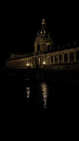Architecture Travel Destinations Reflection Water Water Reflections Built Structure Illuminated Night City Outdoors No People Dresden / Germany Dresden Detail Details Details Architecture_collection Architecture No Filter, No Edit, Just Photography Entrance Portal Architecture Light And Shadow Reflections Reflection Zwinger Dresden Zwingerdresden