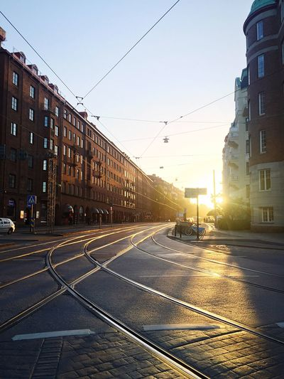 Sunset Korsvägen, Gothenburg, Sweden Korsvägen Goteborg Liseberg Gothenburg Sunset Railway Railroad Tram Tramway Tramways Railroad Track Railroad Tracks Summer Sunny Sun