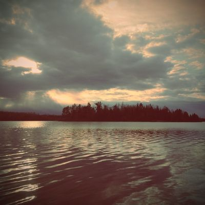 Sunset over Wind Bay in the Boundary waters last week. Edited with the Santa Fe lens from Wood Camera. Edited With The Wood Camera App Woodcamera