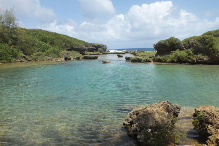 Guam Life Guangzhou Beauty In Nature Clear Water Cloud - Sky Day Natural Pool Natural Pools Nature No People Outdoors Rock - Object Scenics Sea Sky Tranquil Scene Tranquility Tree Water Waterfront