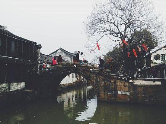 Zhouzhuang Village Ancient Photo Phonevsco Beautiful River Stone 小桥流水人家