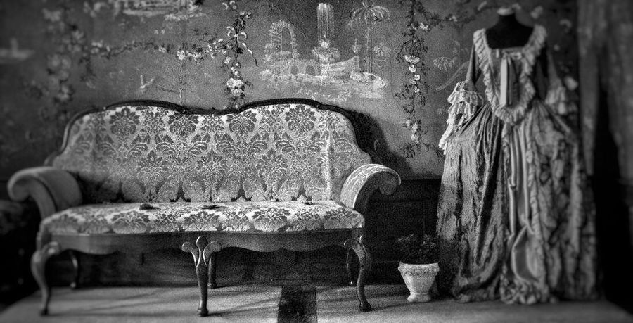 Dress Room Decor Room Old Buildings Castle Bench Baroque Architecture Tadaa Community Black And White Blackandwhite Photography Old Dress Switzerland Museum Taking Photos Canonphotography Romantic Light And Shadow Wall