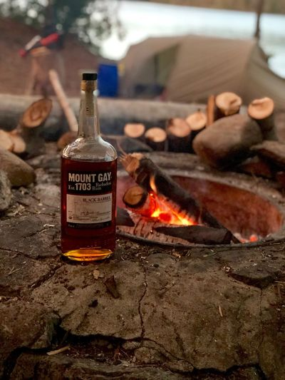 Outdoor Sweden, Kanu Tour Sweden Nature Kanutour Outdoor MountGay Rum Bottle Fire Flame Fire - Natural Phenomenon Focus On Foreground Food And Drink Alcohol Nature