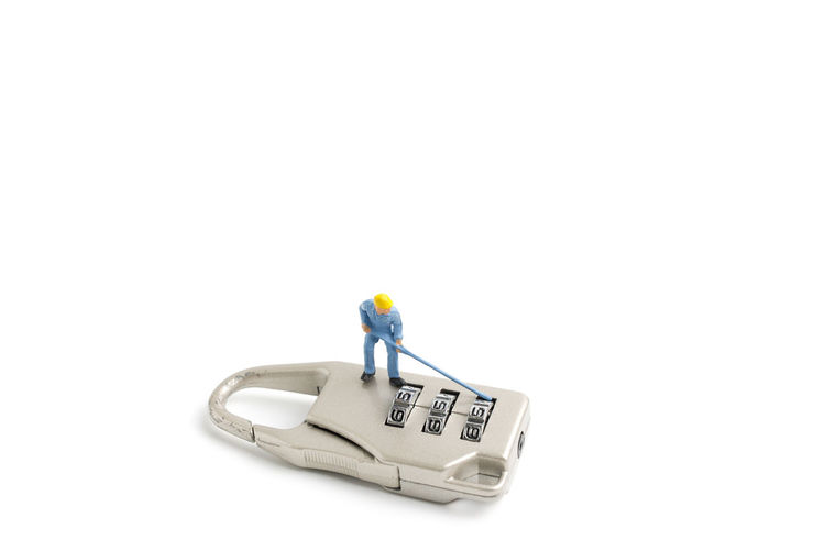 Agreement Background Business Closeup Concept Figure Group Investment Key Lock Metal Miniature Number Object Open Padlock Partnership People Safety Security Shape Sign Success Team Teamwork Toy Unlock White Work Worker Working