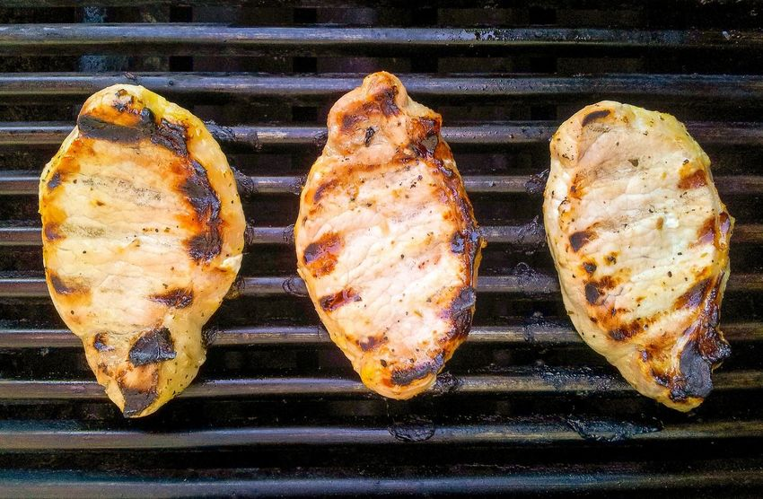 Grilled pork chops Grilled Pork Grilled Meat Pork Chops Grilledpork Grilled Grilling BBQ Food Dinner Food Photography Porkchop Pork Chop Grilling Out Barbeque Three Meat! Meat! Meat! Foodpics Cooking At Home Grill Foodphotography Pork Cooking Dinner From Above  Cook  Meatlovers