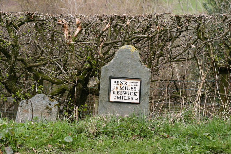 Milepost Distance Information Sign Keswick Mile Post Milestone Outdoors Penrith Sign Travel