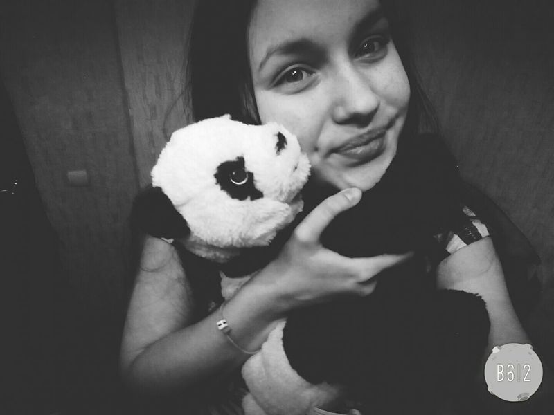 панда Hello World Cute Smile Home Eyes Panda That's Me Black & White Toys