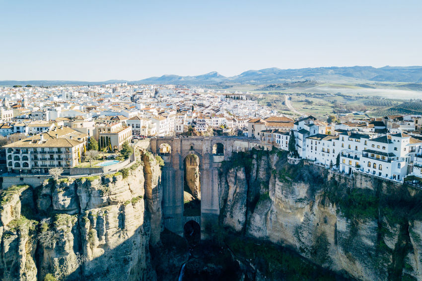 Andalucía City DJI X Eyeem Ronda Ronda Bridge Aerial View Architecture Bridge Building Exterior Built Structure Cityscape Day High Angle View Mountain Nature No People Outdoors Sky Travel Destinations
