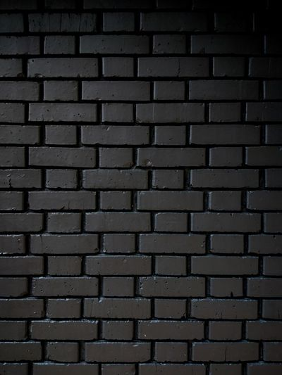 Black Brick Wall Painted Black Backgrounds Full Frame Pattern Textured  No People Architecture Indoors  Day Close-up