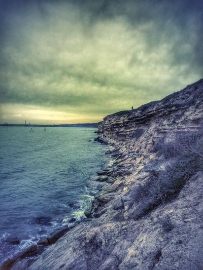Day Nature Tranquil Scene Scenics Water Sea Tranquility Beauty In Nature Sky Rock - Object Cloud - Sky Travel Destinations Tourism Idyllic Nature Non-urban Scene Remote Dramatic Sky Majestic Vacations Seascape Atmospheric Mood KerchCrimea Kerch Fortress Kerch