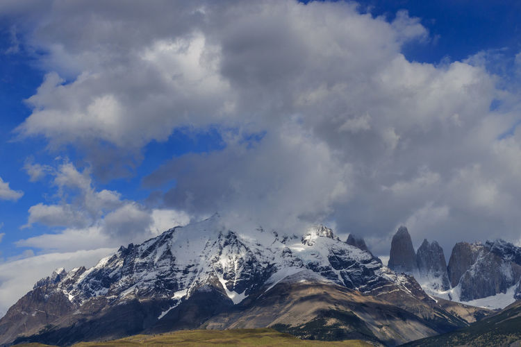 Fitz Roy, Chile Beauty In Nature Chile Cloud - Sky Clouds Day Fitz Roy Fitzroy Landscape Mountain Mountain Peak Mountain Range Nature Nature Nature Photography No People Outdoors Scenics Sky Snow Snowcapped Mountain Torres Del Paine