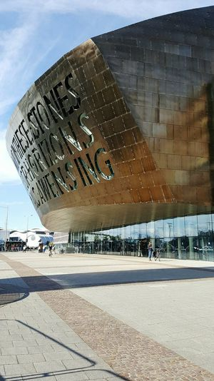 Cardiff Cardiff Bay Armadillo Millennium Centre Theatre Modern Architecture Piazza Tourist Attraction  Wales Tourism In Wales