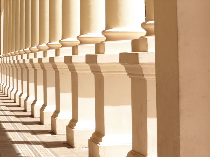 Architectural Column Architecture Building Exterior Built Structure History In A Row No People Sunlight