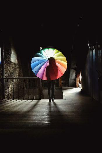 Man in umbrella