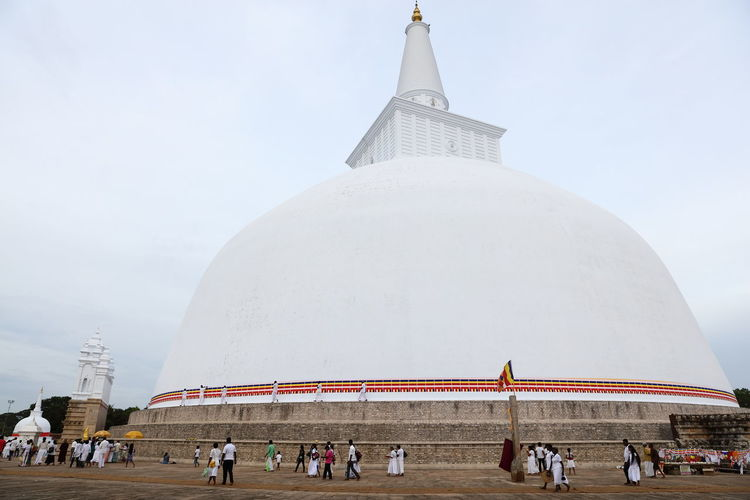 ASIA Anuradhapura Buddha Ruwanwelisaya Sri Lanka Stupa Architecture Buddhism Buddhist Monks Buddhist Temple Building Exterior Built Structure Dagoba Dagoba Sri Lanka Large Group Of People Leisure Activity Place Of Worship Religion Travel Destinations