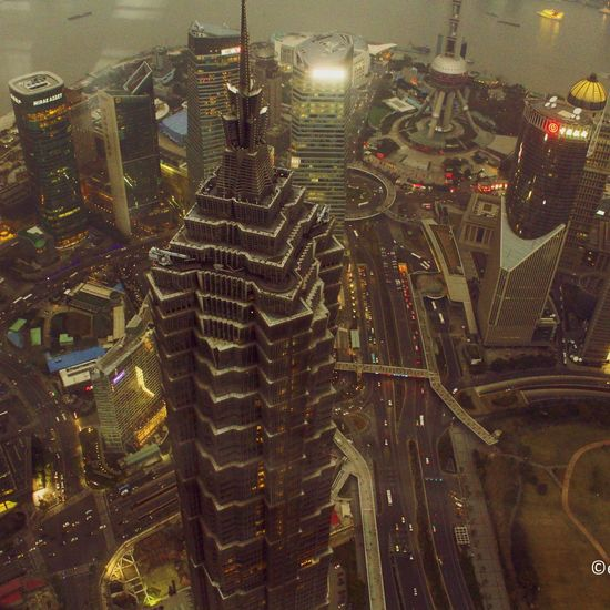 Shanghai Jin Mao Tower at Night China 2013 Travel Photography City Lights Cityscape Fresh On Eyeem  Architecture The Great Outdoors With Adobe Canon Architecture Photography Photography Feel The Journey City Life Traffic Traffic Lights Street Photography Showcase June