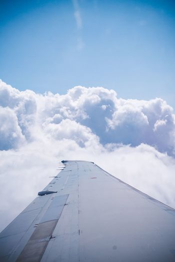 Serenity now. Sky Cloud - Sky Day No People Nature Built Structure Blue Transportation Air Vehicle Airplane Travel Mode Of Transportation Tall - High White Color