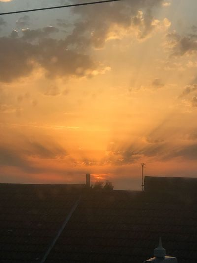 Whilst on the move. Sunset Sky Cloud - Sky Orange Color Beauty In Nature Scenics - Nature Nature Outdoors Sunlight