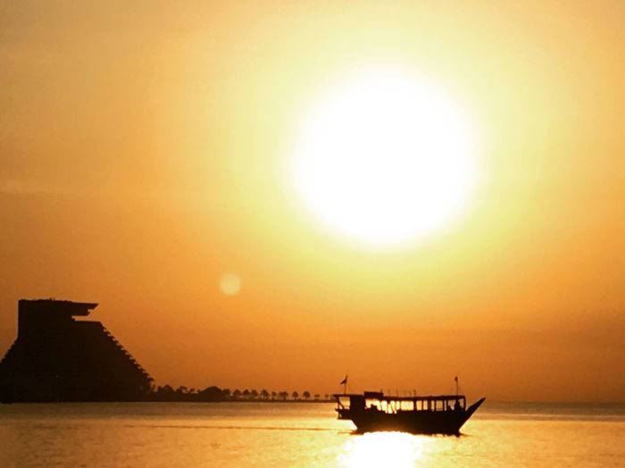 Sunset Sun Orange Color Sea Water Nautical Vessel Sky Beauty In Nature Silhouette Scenics Nature Sunlight Transportation Tranquility Waterfront Outdoors Mode Of Transport Horizon Over Water No People Sunandsea BeautifulSunRise Morning Sun Sunrise EyeEmNewHere Dhow