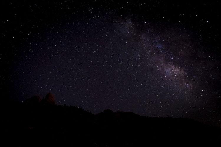California Nightphotography Milky Way Mountain Range Trona Pinnacles