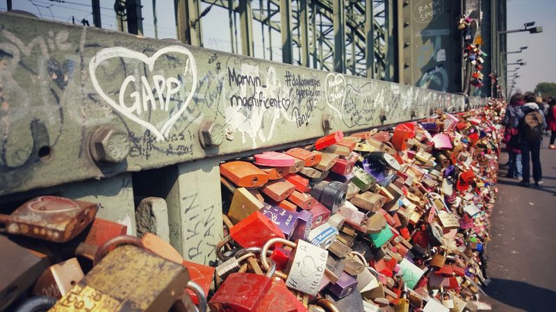 Text Built Structure Architecture Communication City Love Lovers Locks Lovers Bridge Lovers Point Lover Not A Fighter Locks Of Love Locks Of Love Bridge Lockers Travel Destination Germany Cologne Hohenzollernbrücke