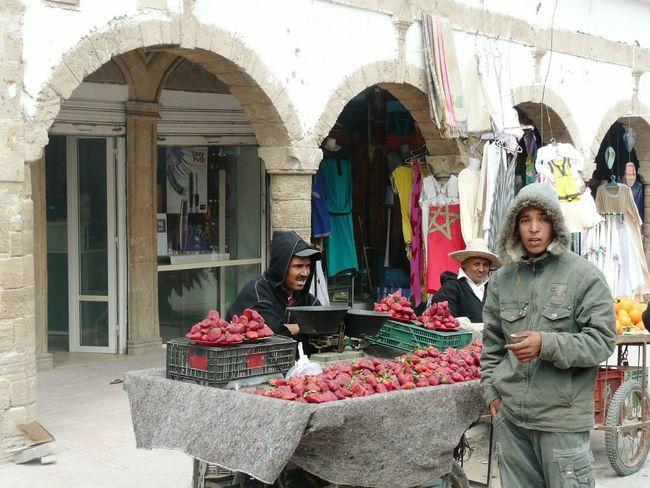 Marchand de Fraises Essaouira Maroc Market Morocco