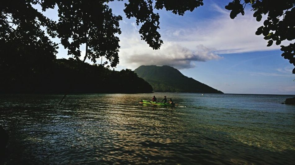 Paradise Waterfront Landscape Ternate Island, Molucca Travel Photography Mountain Journeyphotography Journal