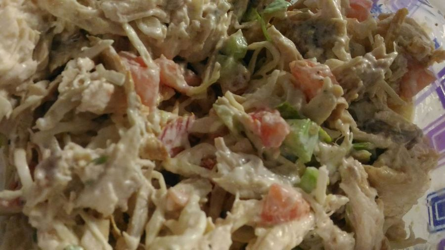 Chicken Slaw Salad Leftovers SLAW Chicken Salad Prepared Food Chicken Meat Meat! Meat! Meat! Meat Dish Full Frame Retail  Close-up Food And Drink Roast Chicken