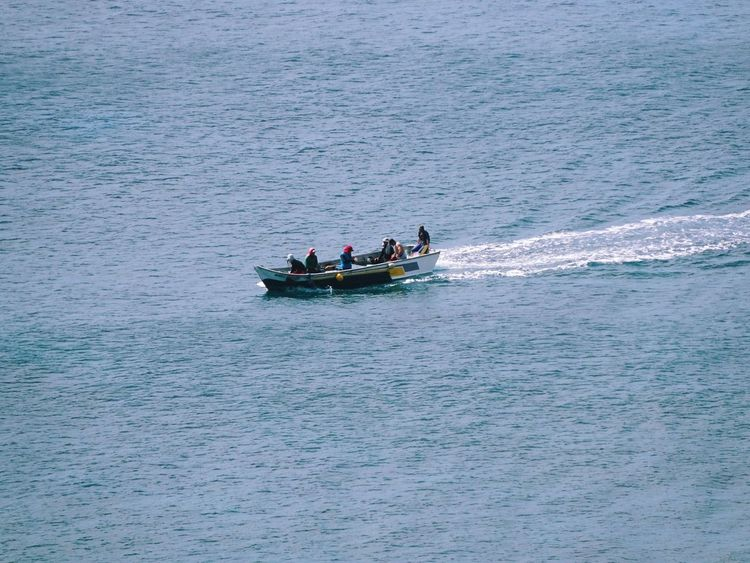 Scenic Sea Ocean Fishermen Fishing Fishing Boat Mode Of Transport Transportation Adventure Lost In The Landscape