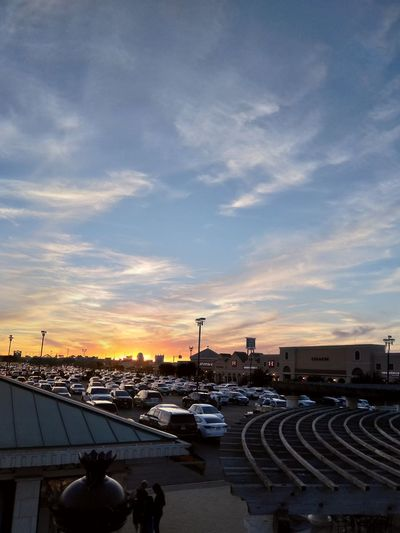 Cars Parkinglot Shopping Mall Clouds Color Light City Sunset Architecture Cityscape Cloud - Sky Outdoors Sky No People