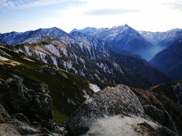 Mountain Pinaceae Mountain Range Nature No People Beauty In Nature Outdoors Scenics Landscape Forest Day Tree Cloud - Sky Cold Temperature Travel Destinations Vacations Tranquility Japan Japon Montagne Randonnée Alpinism