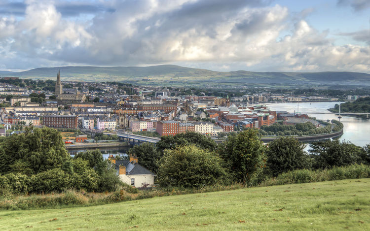 City Cityscapes Cityview Cloud Cloud - Sky Londonderry Outdoors River Sky