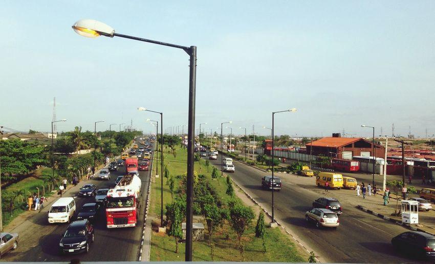 Street Lights Perspective on a Lagos Expressway. Lagos Nigeria Sunnyafternoon streetlights Skyporn Expressway Highwayphotography