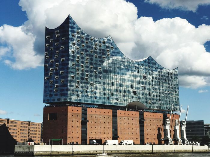 Hamburg Elbphilharmonie Architecture Built Structure Building Exterior Cloud - Sky Sky Modern Day Low Angle View Outdoors City Travel Destinations No People Skyscraper