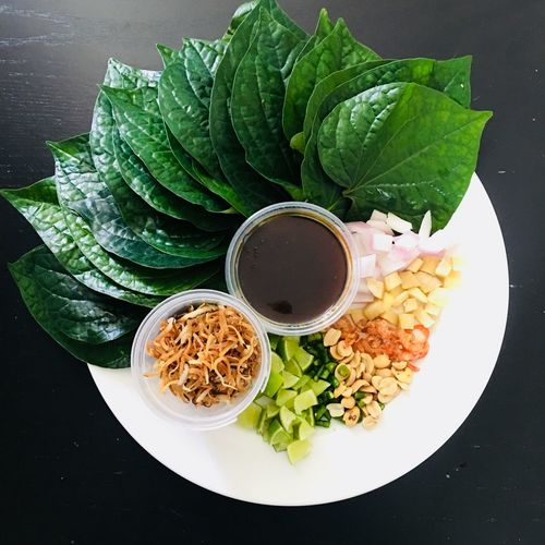 The taste of Thailand One Bite MeangKum Local Food Thai Cuisine Thaifood Food And Drink Food Freshness Ready-to-eat Wellbeing Vegetable Meal Serving Size Healthy Lifestyle High Angle View