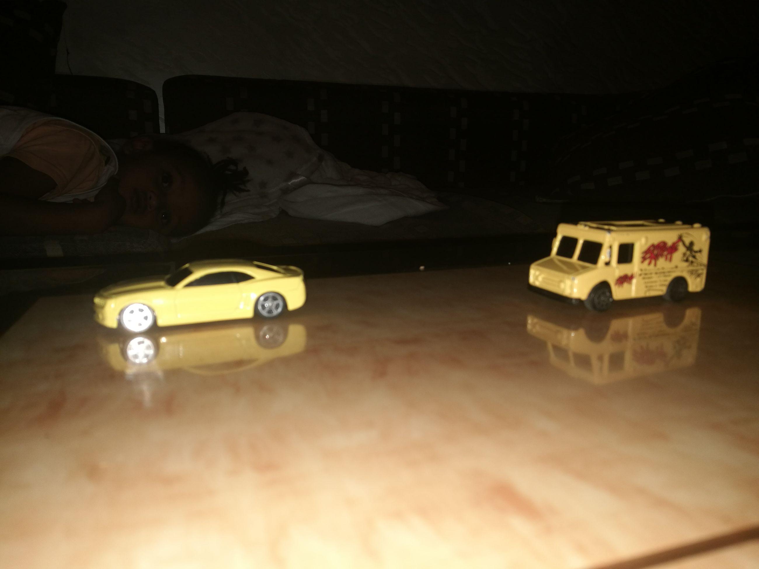car, land vehicle, transportation, no people, indoors, night, racecar