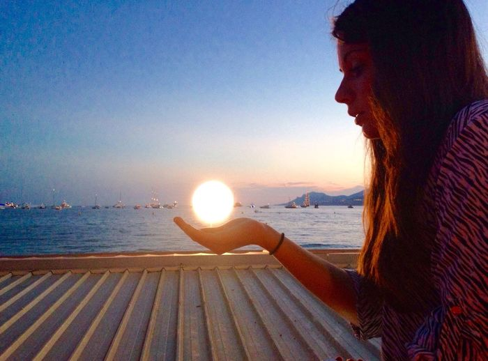 Sunset on our hands.