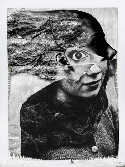 Photographic Approximation Facial Experiments Collage Exploring The Subconscient Escapism From The Hard Reality. All Is Imperfect...all Is Unfinished