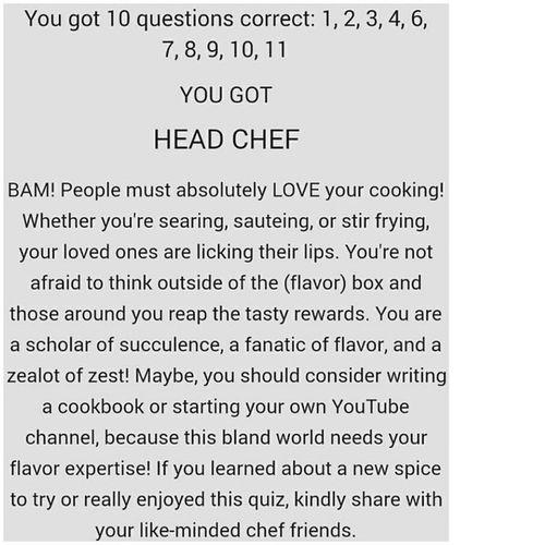 Identify 11 herbs quiz. 1 attempt. Awww... i am humbly delighted. Thanks to Foodtube yea. Jamieoliver Gennarocontaldo AntonioCarluccio