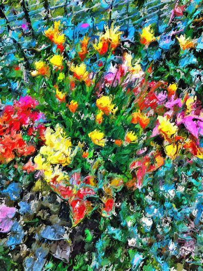 Using portrait painter and glaze Flowers Abstract NEM Painterly IPSPaint