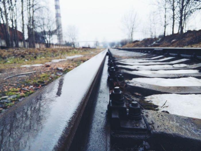 Sleepers Rail рельсы Rain Дождь Mobilephotography Smartphonephotography Landscape Rainy